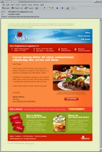 Applebees Promotional Email