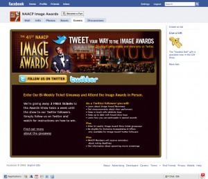 NAACP Image Awards Facebook Tab