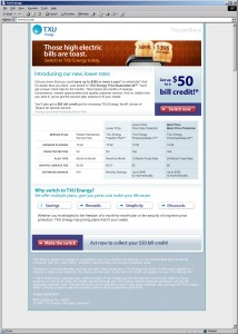 TXU Lower Prices Email
